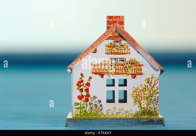 Model of a house, close-up - Stock Image