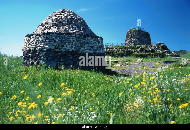 Italy Sardina Sardegna Nuraghe Santu Antine near Torralba - Stock Image
