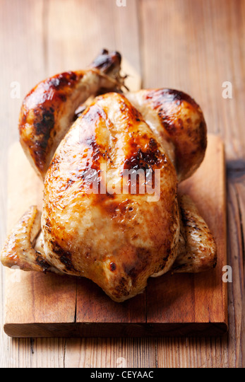 roast chicken - Stock Image