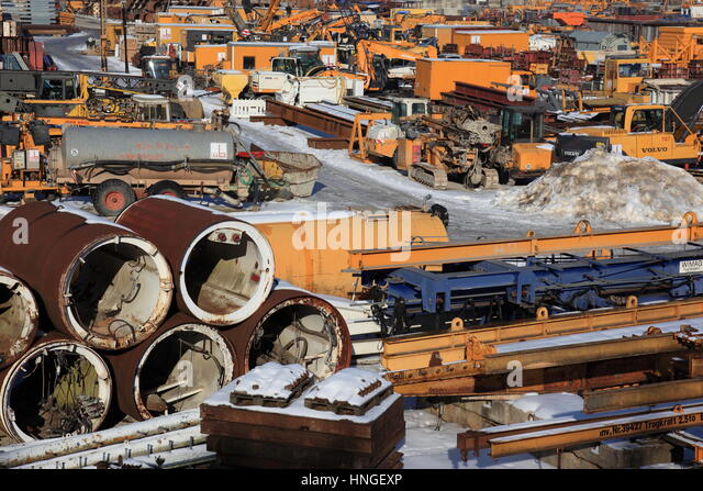 heavy construction equipment, Germany, Europe. Photo by Willy Matheisl - Stock Image