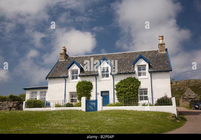 Traditional cottage Iona Mull Scotland - Stock-Bilder