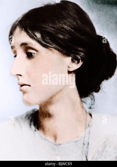 Virginia Woolf, English novelist, essayist and critic, early 20th century. - Stock-Bilder