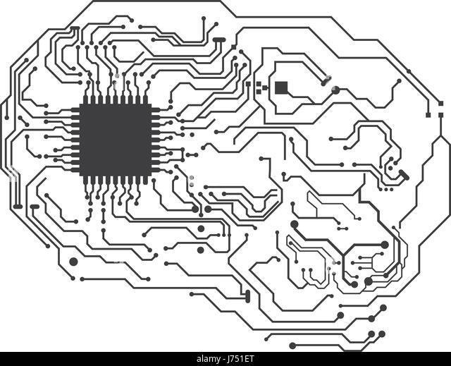 circuit board brain stock photos  u0026 circuit board brain