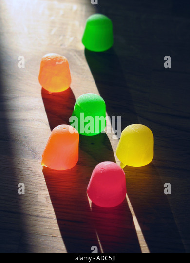 Colorful gum drop candies - Stock Image