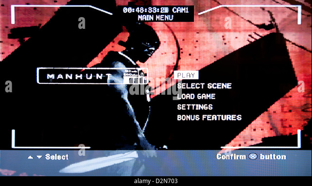 Manhunt violent horror psychological video game - Stock Image