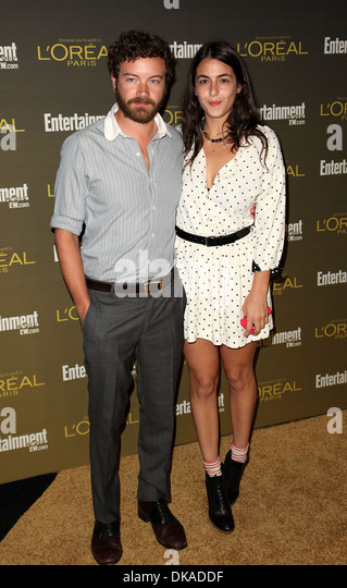 Danny Masterson and Alanna Masterson 2012 Entertainment Weekly Pre-Emmy Party at Fig & Olive West Hollywood - Stock Image