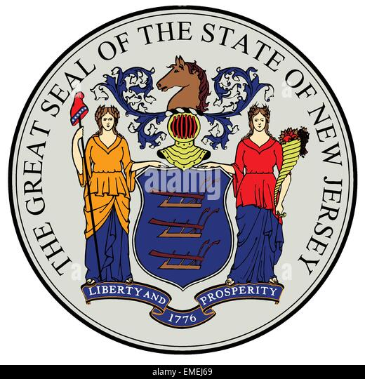 New Jersey State Seal - Stock Image