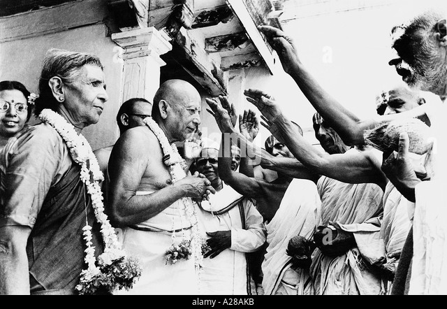 TSS76397 Venerable looking Krishna Iyenger India - Stock Image