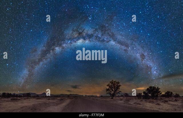 Milky Way reflected over the Atacama desert - Stock-Bilder