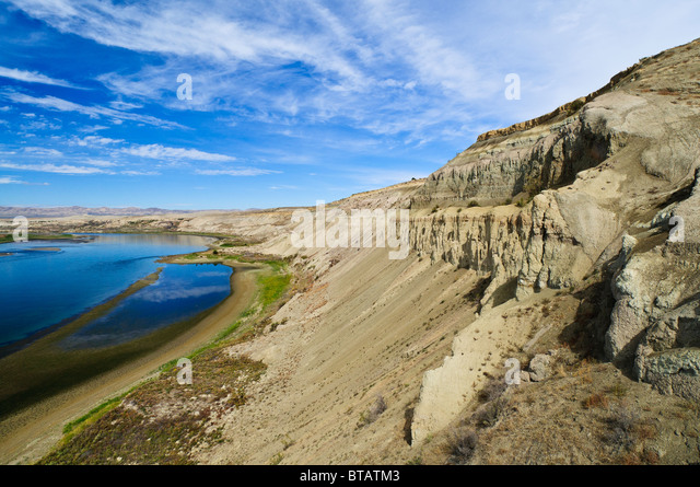 White Bluffs of Hanford Reach National Monument and Saddle Mountain National Wildlife Refuge, central Washington. - Stock-Bilder