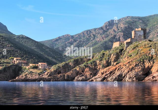 Tour de Girolata, La Scandola, Nature Reserve, Porto, Corsica, France - Stock-Bilder