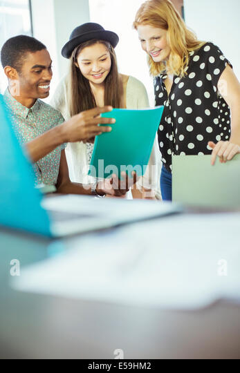 People working together in office - Stock Image