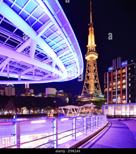 Nagoya, Japan at Oasis 21 and TV Tower. - Stock-Bilder