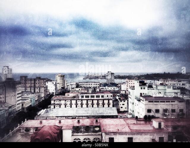 Havana cityscape Cuba - Stock Image