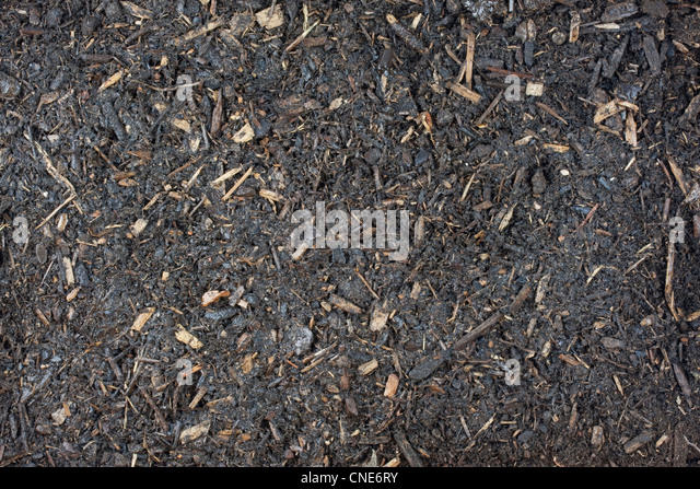 Dirty Wood Chips ~ Humus soil stock photos images alamy