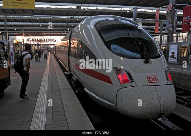 München Hauptbahnhof,ICE,intercity,inter,city - Stock Image