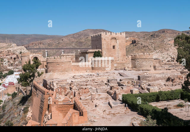 It is one of the medieval city fortifications stock photos - Puerta europa almeria ...