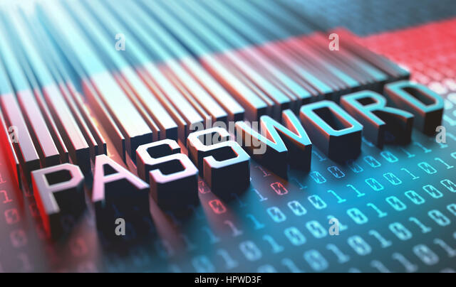 Password barcode, illustration. - Stock-Bilder