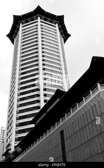 Marriott Hotel and Tang Plaza, Singapore - Stock Image
