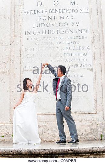 Newlyweds first dance - Stock-Bilder