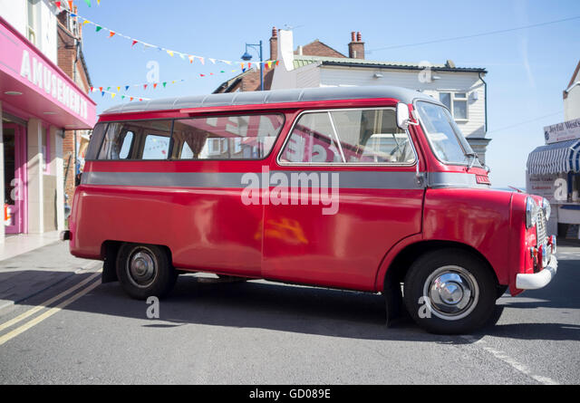An old Bedford dormobile at the Sheringham Classic Car and Bike show - May 2012 - Stock Image