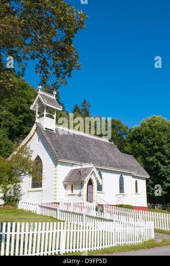 Historic Anglican Church, Alert Bay, British Columbia, Canada - Stock-Bilder
