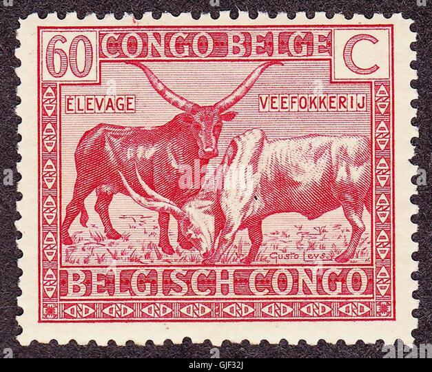 Belgian Congo 1925 issue-60c - Stock-Bilder