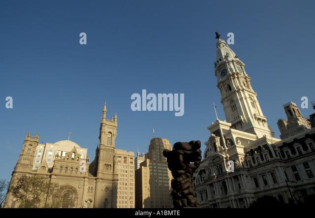 Philadelphia skyline - Stock Image