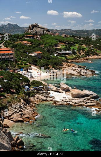 Italy Sardinia Baja Sardinia - Stock Image