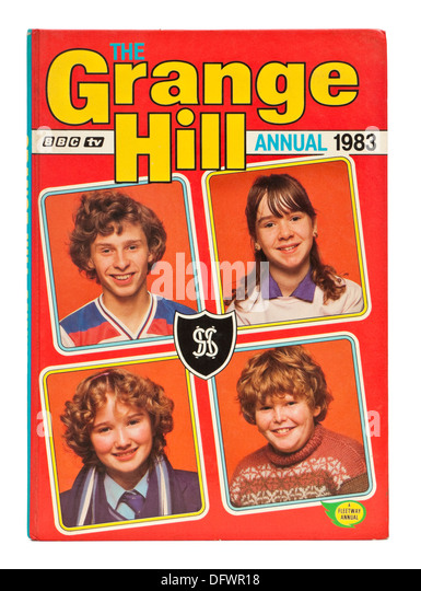 Vintage 1983 'Grange Hill' annual, featuring a young Susan Tully (aka Michelle Fowler in the BBC soap opera - Stock-Bilder