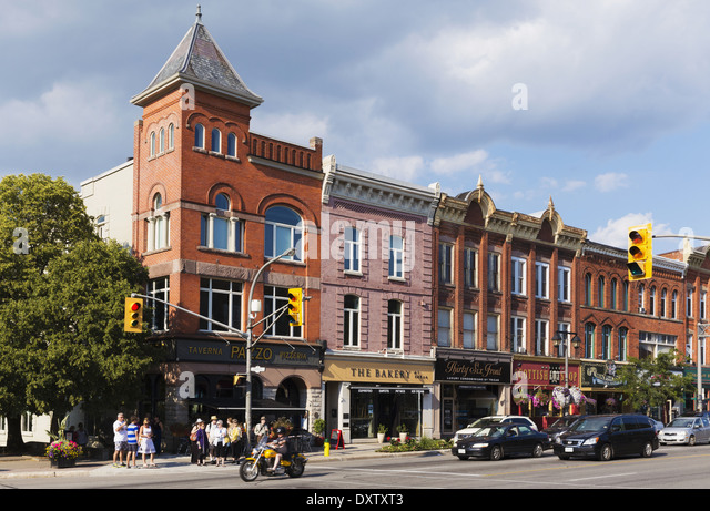 Quaint Downtown Street Stratford Ontario Stock Photos Quaint Downtown Street Stratford Ontario