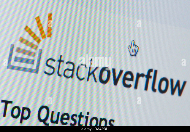 Close up of the Stack Overflow logo as seen on its website. (Editorial use only: ­print, TV, e-book and editorial - Stock Image