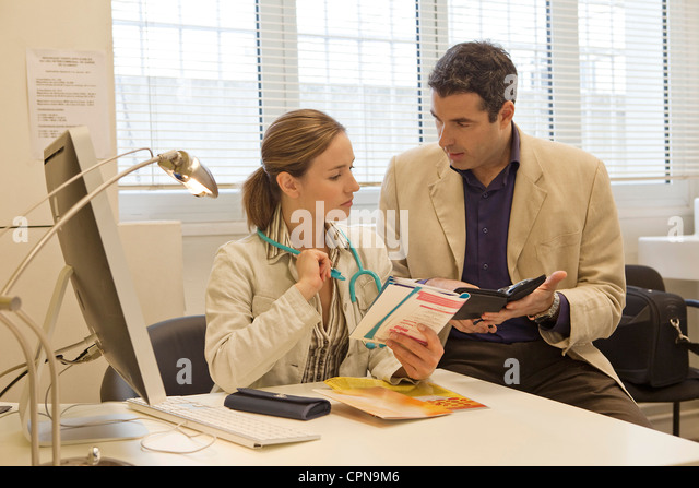 HEALTH VISITOR - Stock Image
