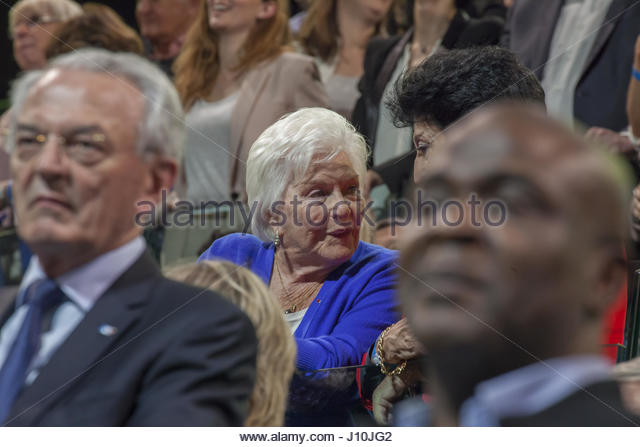 Paris, France. 17th Apr, 2017. French artist Line Renaud Credit: attends a campaign meeting of French presidential - Stock Image