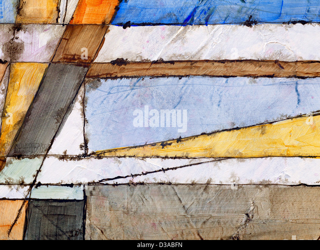 an abstract painting - Stock Image