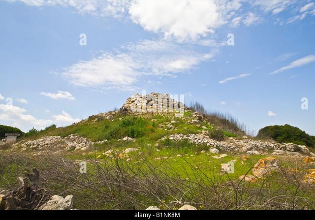 Torralba d`en Salord Prehistoric Settlement Menorca Minorca - Stock Image