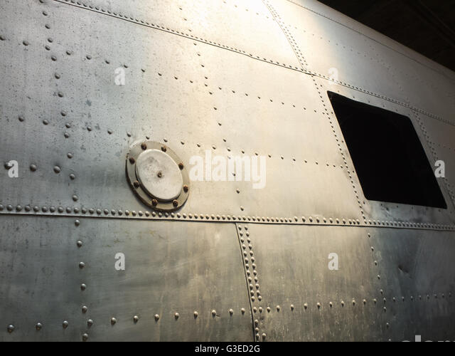 vintage aircraft fuselage - Stock Image
