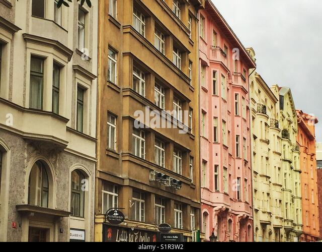 A walk down the streets of Prague will lead you to beautiful places. - Stock Image