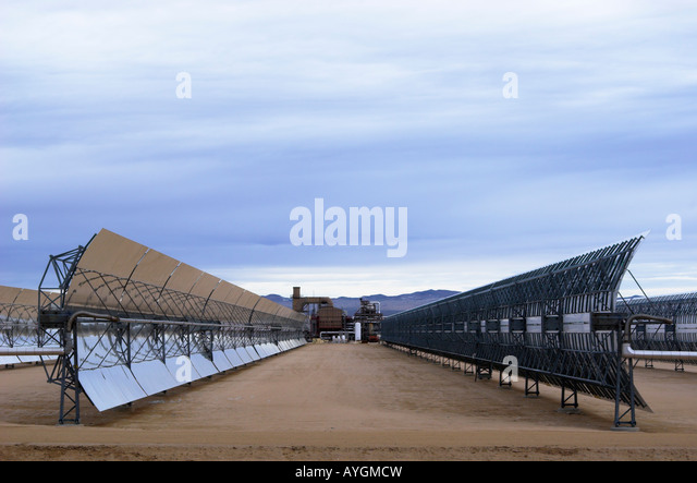 Solar Electric Generating Systems power plant at Harper Lake, Mojave desert, California, USA - Stock Image