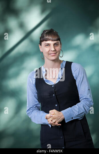Anna Krien, the Australian author, at the Edinburgh International Book Festival 2015. - Stock Image
