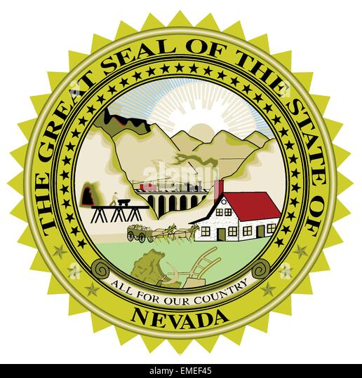 Nevada State Seal - Stock Image