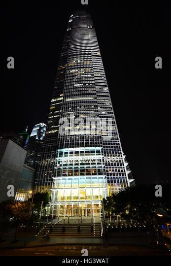 IFC Tower at night. - Stock Image