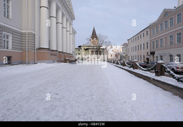 In front of the University of Tartu. Estonia 3th detsember 2016 - Stock Image