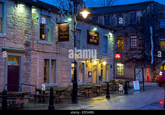 Shoulder of Mutton pub, Hebden Bridge, Calderdale, West Yorkshire, England UK - Stock Image