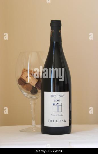 Treolar, Three Peaks. Roussillon, France - Stock Image
