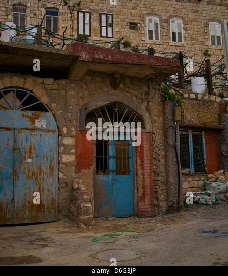Artists doorwa in Zfat, Upper Galilee, Israel - Stock Image