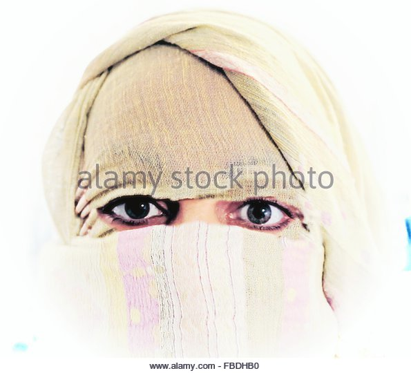 Woman Wearing Burka - Stock Image