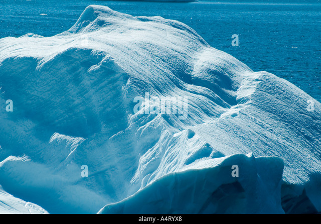 Detail from an iceberg, Kong Oscars Havn, Angmagssalik Island, Sermilik Fjord, East Greenland - Stock Image