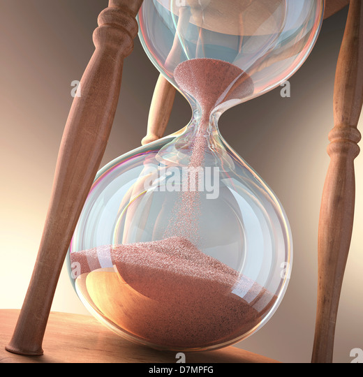Hourglass, artwork - Stock Image