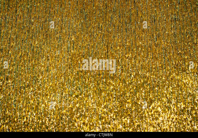 a nice gold glitter with selective focus - Stock-Bilder